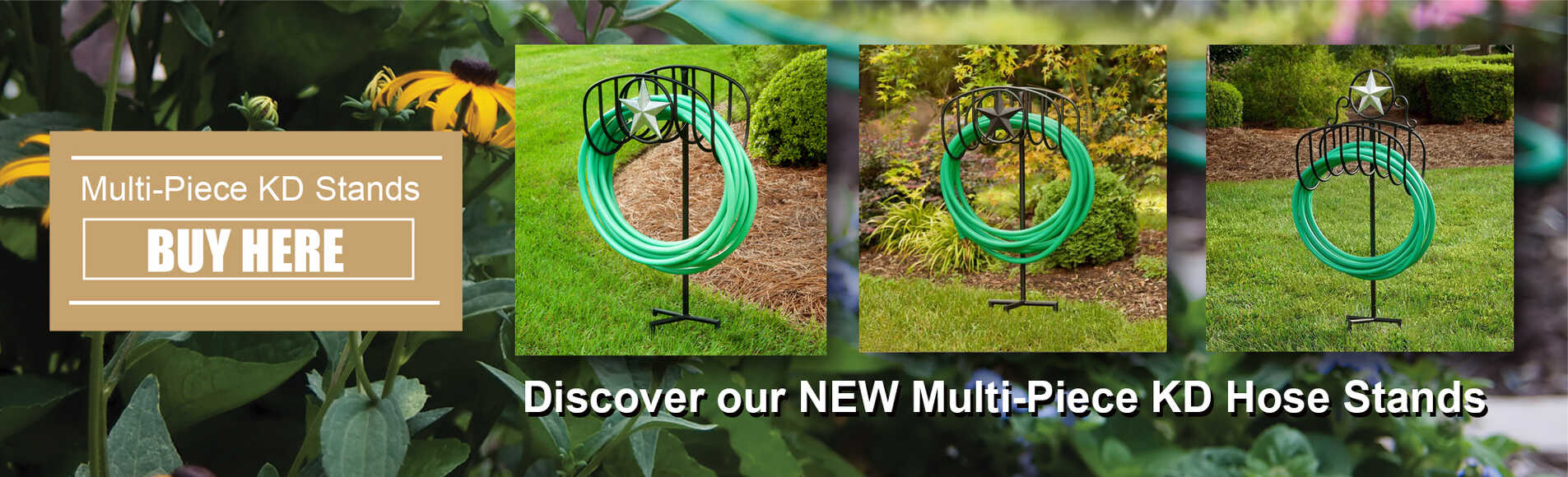 Multi-piece KD Hose Stands