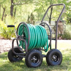 871 Four Wheel Hose Cart with Basket