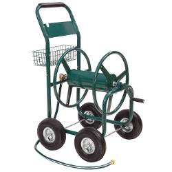 Four Wheel Industrial Hose Cart