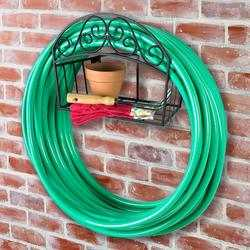 241 Wall Mounted Decorative Hose Butler with Shelf