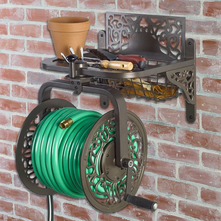 714 Decorative Cast Aluminum Navigator Rotating Hose Reel